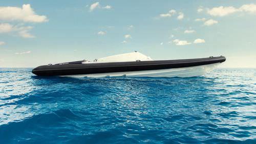 barco inflável com motor de centro / semirrígido / com console central / offshore
