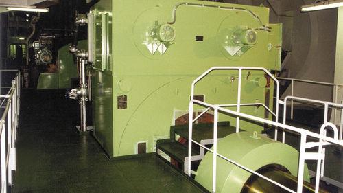 grupo gerador de energia para navio / a diesel / acionado por linha de eixo