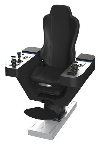 assento de operador / para navio / com braços / com posto de comando integrado