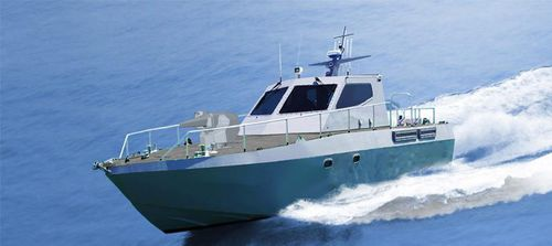 barco-patrulha / com motor de centro hidrojato / a diesel