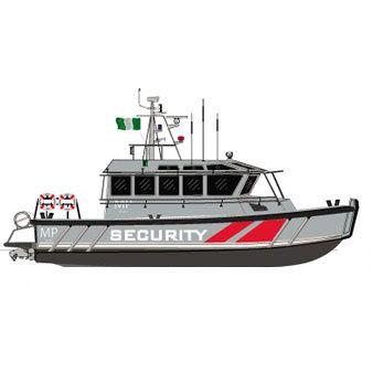 barco-patrulha / com motor de centro hidrojato / em alumínio