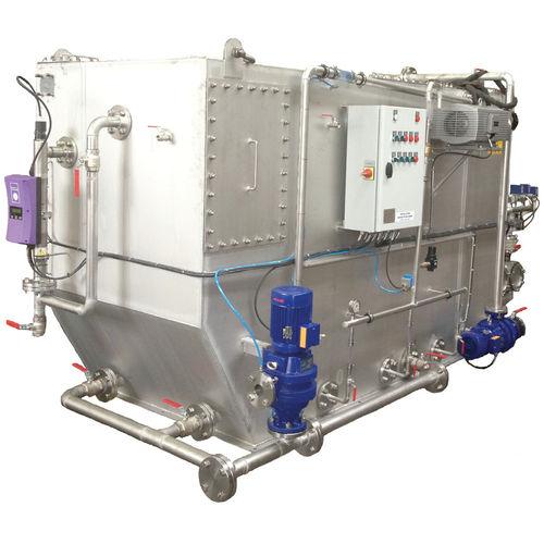 sistema de tratamento de águas residuais / para navio / biológico