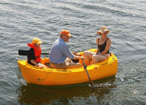 bote auxiliar com motor de popa / rotomoldado