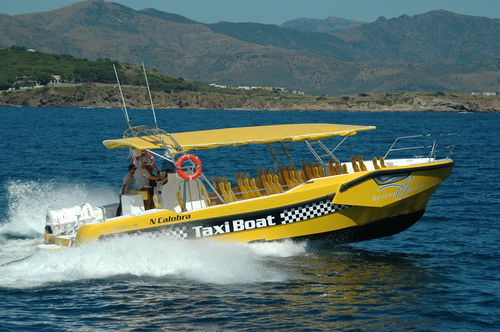 barco de passeio / com motor de centro