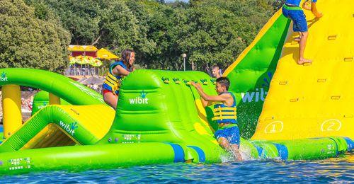 equipamento de diversão aquática rampa / inflável