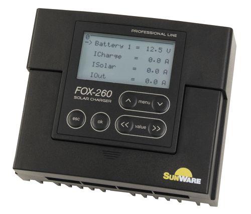 controlador e regulador de carga para bateria / painel solar / para barco