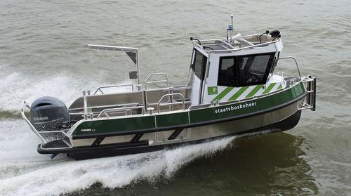barco de serviço / com motor de popa / em alumínio