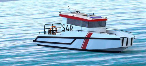 barco de busca e salvamento / com motor de centro