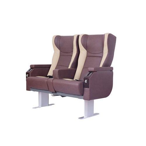 assento para navio de passageiros / com braços / com encosto reclinável / de 2 lugares