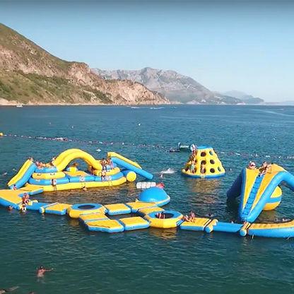equipamento de diversão aquática escorregador / parque / cama elástica / boia