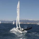 spinnaker / para barco de vela ligeira / 470 / de corte trirradial