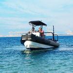 barco de trabalho com motor de popa / barco inflável