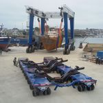 carreta de movimentação / para cargas pesadas / para estaleiro naval / motorizada