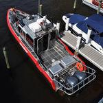 barco-bombeiro com motor de popa / em alumínio