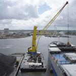guindaste para navio-guindaste / portuário / de convés / com lança elevatória
