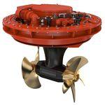 propulsor azimutal / para navio / elétrico / de hélice contrarrotativa