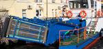 barco de combate à poluição catamarã / com motor de centro