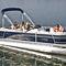 pontoon boat com motor de popa / tri-tube / para esqui aquático / de pesca esportiva