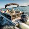 pontoon boat com motor de popa / tri-tube / máx. 13 pessoas / máx. 18 pessoas