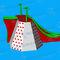 equipamento de diversão aquática escorregador / plataforma / parede de escalada / trenó