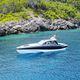 lancha Express Cruiser de rabeta / a diesel / trimotor / com hard-top