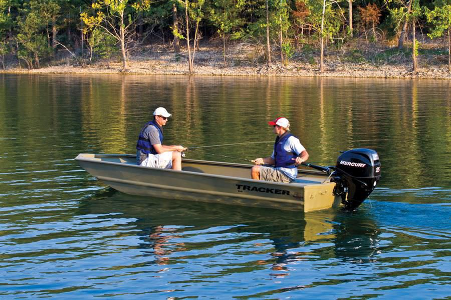 Outboard jon boat / sport-fishing / aluminum / 4-person max