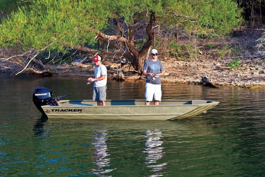 Outboard jon boat / sport-fishing / aluminum / 4-person max