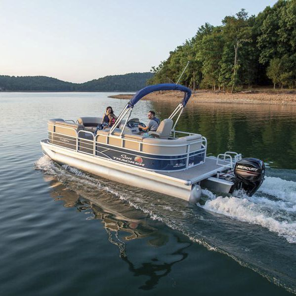 Outboard pontoon boat / 10-person max  - PARTY BARGE® 20 DLX
