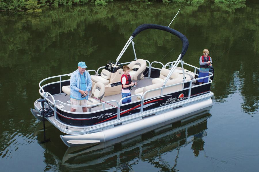 Outboard Pontoon Boat Sport Fishing 8 Person Max Bass