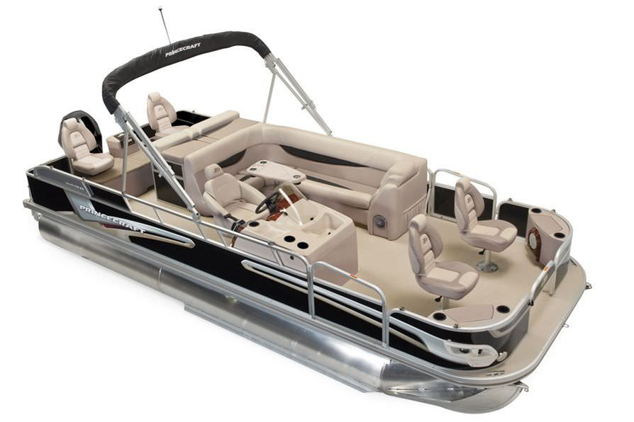 Outboard pontoon boat / sport-fishing / aluminum / 9-person