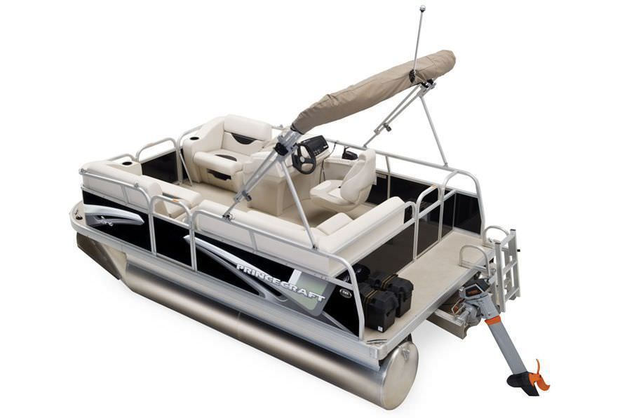 Electric pontoon boat / aluminum / 4-person max  - BRIOE 15