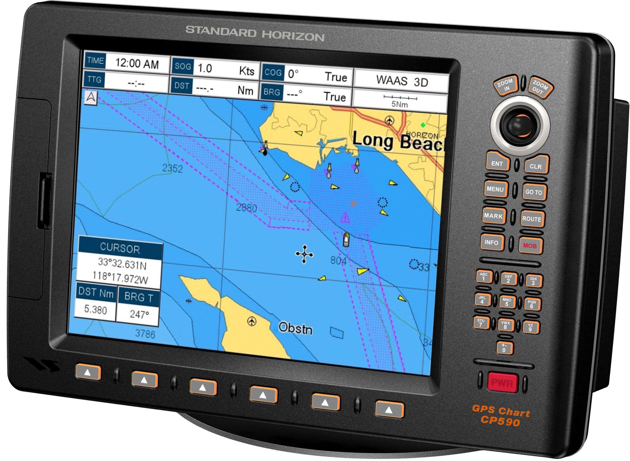 Chart plotter / radio / AIS / GPS - CP590 NC - Standard horizon on