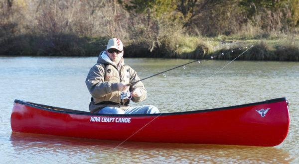 Recreational canoe / fishing / solo / fiberglass - TRAPPER