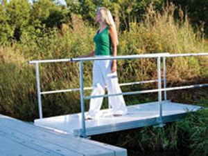 Dock gangway / with handrails / aluminum - GWA SERIES