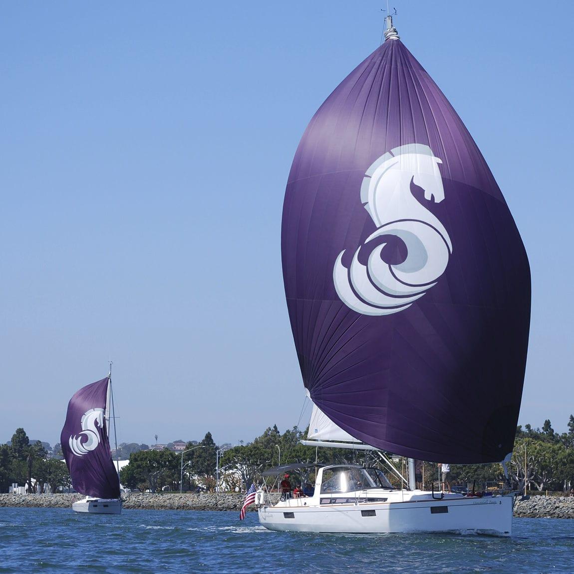 Asymmetric spinnaker / for cruising sailboats / tri-radial cut