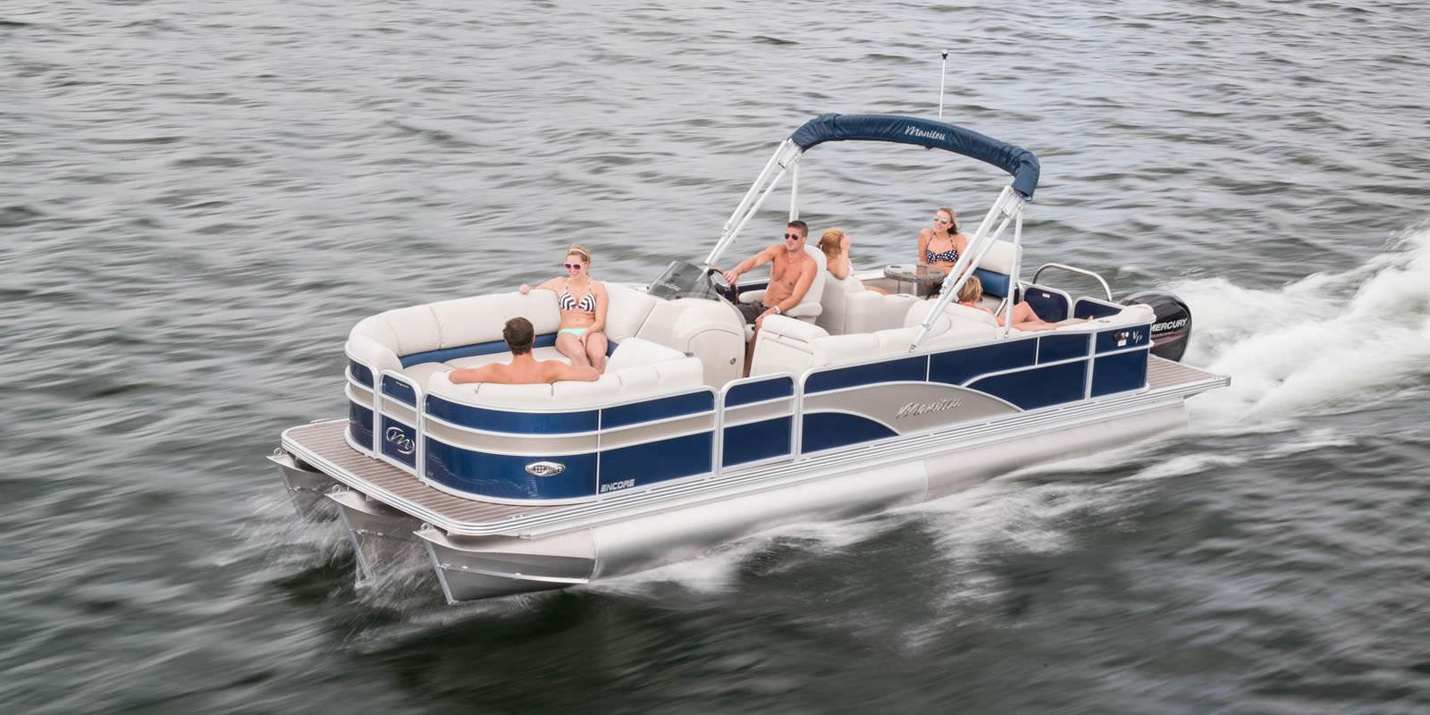 Outboard pontoon boat / tri-tube / 15-person max  - 27
