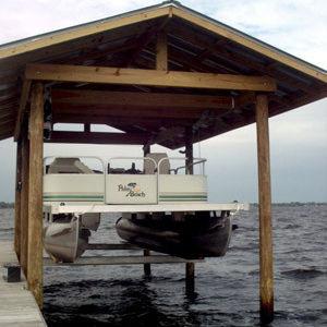 Pontoon boat lift / floating / sheltered - Cradle Kit
