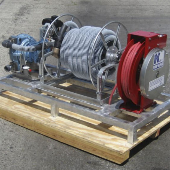 Mobile pump-out / for boats / for marinas / with peristaltic