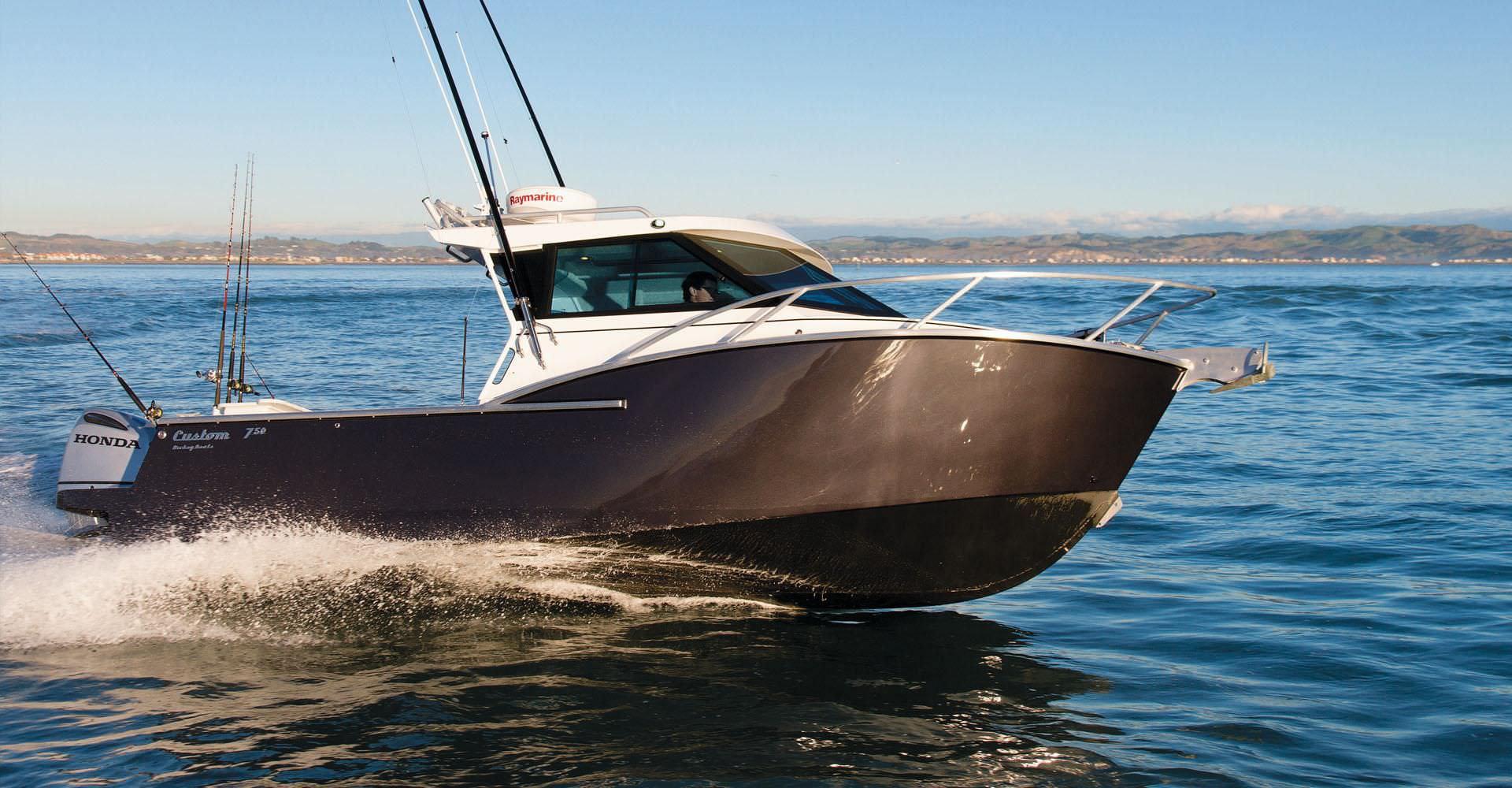 Outboard Cabin Cruiser Hard Top Sport Fishing Custom 750 Xs