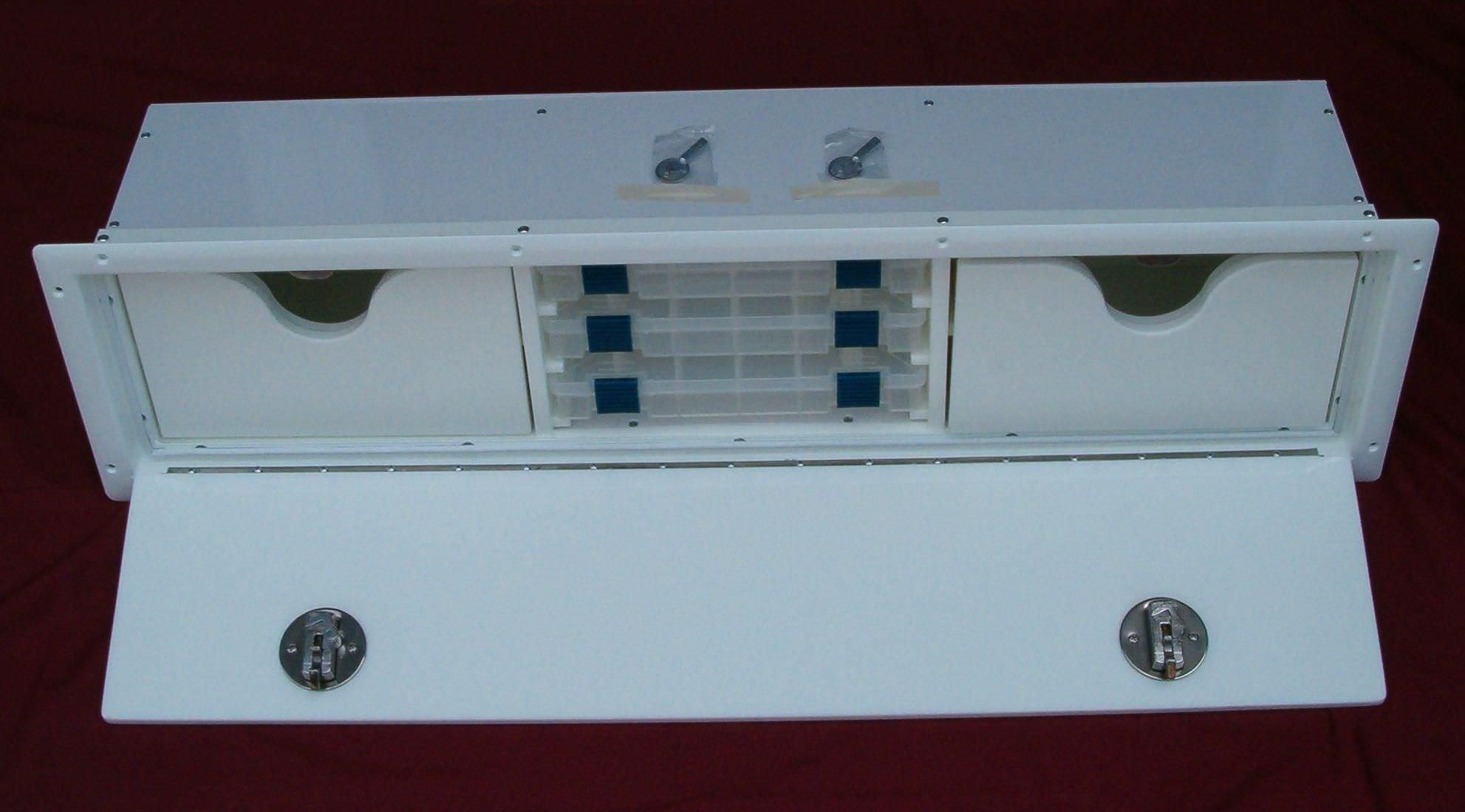 Boat storage box - Driver Seat Tackle Center - Metal Moulding