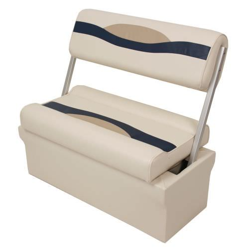 2 Person Bench Seat For Pontoon Boats With Reversible Backrest Storage Sh17