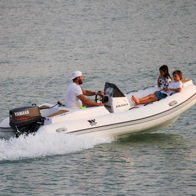 Outboard inflatable boat / RIB / side console / yacht tender - 400