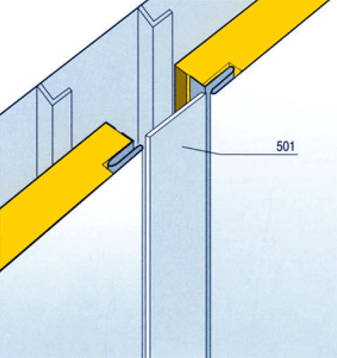 Soundproofing sandwich panel / for ship partition walls