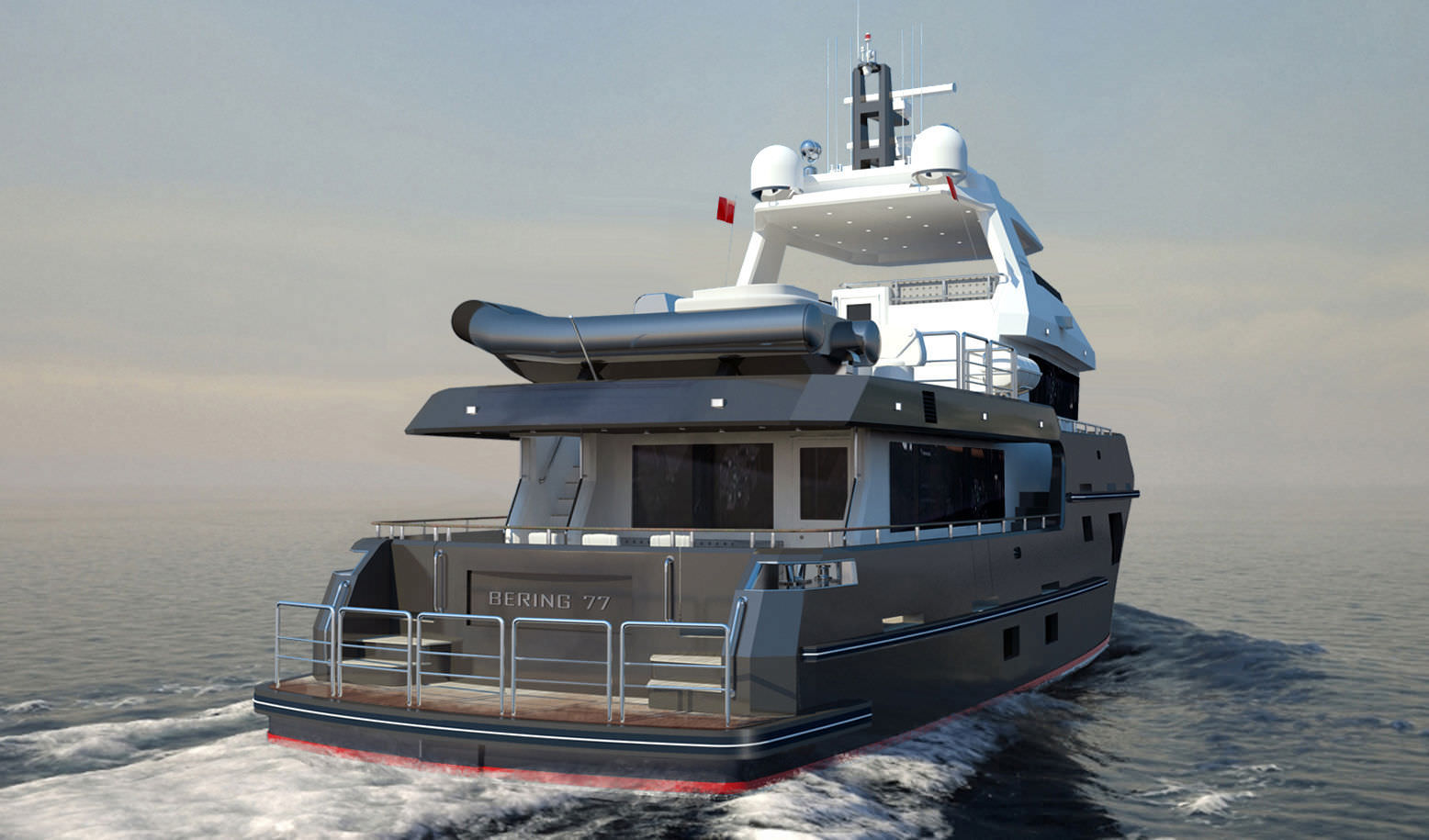 Expedition motor yacht / flybridge / steel / displacement