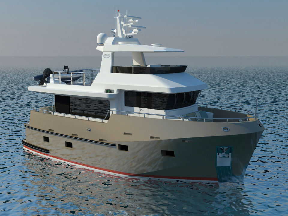Inboard trawler / flybridge - B 50 - Bering Yachts