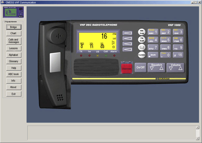 GMDSS simulation software / VHF / radio - VHF COMMUNICATION - STORM Ltd