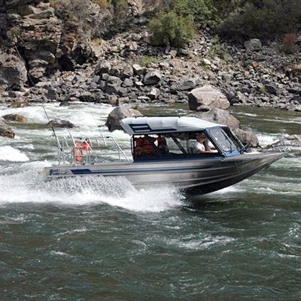 Hydro-jet day fishing boat / wheelhouse / aluminum Finlayson Bentz Boats