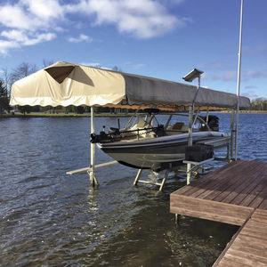 boat lift / floating / hydraulic