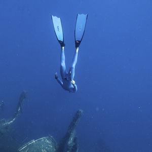spearfishing fin / freediving / fiberglass
