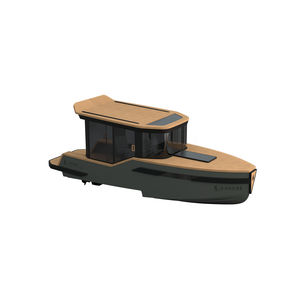 inboard center console boat / electric / hard-top / with enclosed cockpit